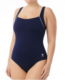 MAILLOT FEMME AQUAGYM SOLID SQUARE NECK TANKINI