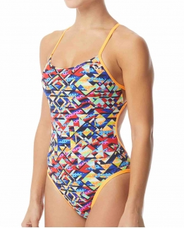 Maillot femme 1 pièce Mosaic mojave cutoutfit
